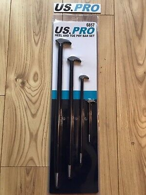 US PRO 4pce Heel and Toe Pry Bar Set Aligning Lifting Prying NEW 6857