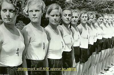 German League of German Girls PHOTO Youth Party World War II,All Blondes in Line