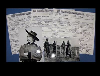 Custer's Last Stand DEATH CERTIFICATES +Survivor Photo,Battle of Little Bighorn