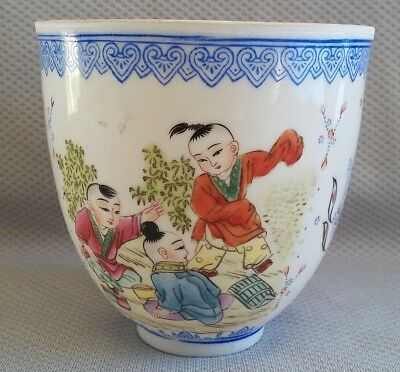Vintage Chinese Eggshell Porcelain Cup with Mark
