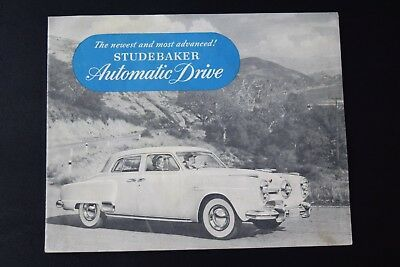1950 Studebaker Automatic Drive Car Sales Brochure **Original**