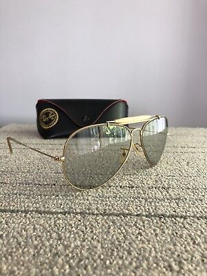 af58a157c13 VINTAGE BAUSCH   Lomb RAY BAN yellow shooting Aviator Sunglasses in ...