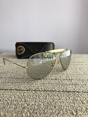 e65ab80a68 Vintage B L Ray Ban Aviator Sunglasses Bausch Lomb 62-14 W  Case Clear