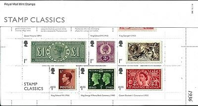 Gb 2019 Mint Stamp Classics Presentation Pack 566 Miniature Sheet Barcoded & No
