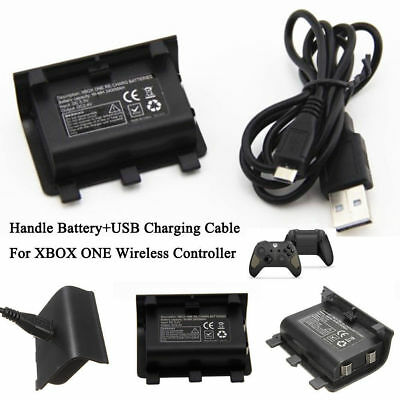 NI-MH 2400MAH Charge Kit Rechargeable Battery Pack With USB Cable For Xbox One B