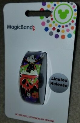 NEW Disney Parks Mickey Halloween 2018 Magic Band 2 Limited Edition LINKABLE
