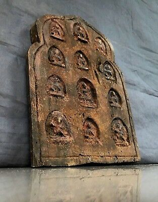 Antique / Vintage Indian Hand-Carved, Sacred Buddha & Shiva Panel. Kathmandu.