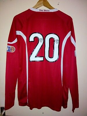East Stirlingshire Match Worn Shirt, Spielertrikot #20.