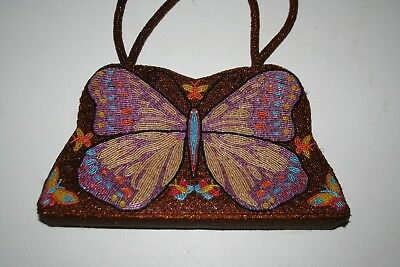 Beaded Butterfly Purse   Stunning...Must See