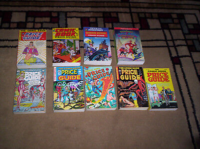 9 Overstreet Comic Book Price Guides #8 Thru 12 & 14,15,19,23 All Soft Covers