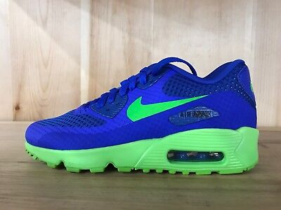the best attitude 55334 6a5e4 Nike Air Max 90 Br Racer Blue Electric Green Running Kids Gs Sz 4 Y 833475