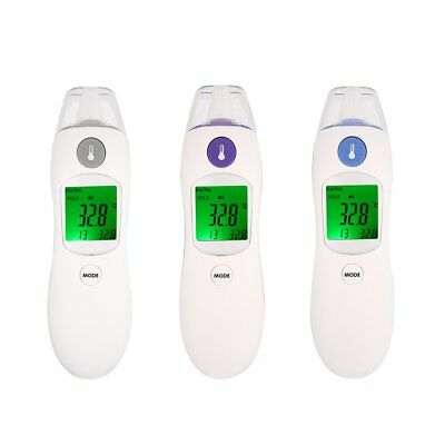 Digital IR Infrared Thermometer Non-Contact Baby Body Forehead Ear Temperature W
