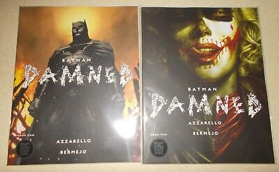 Batman Damned #2 (Covers A & B Variant) (Both NM) DC Comics Black Label Jim Lee