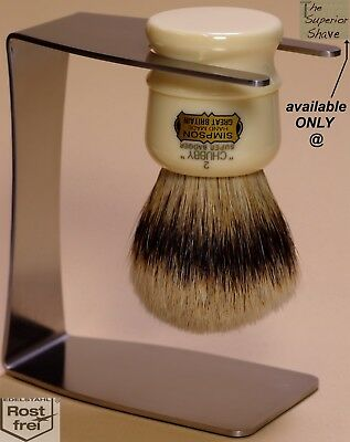 Stainless Steel Shaving Brush Stand for Simpsons Chubby 2 CH2
