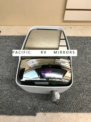 Velvac 714589 White Driver Side Deluxe Mirror Head