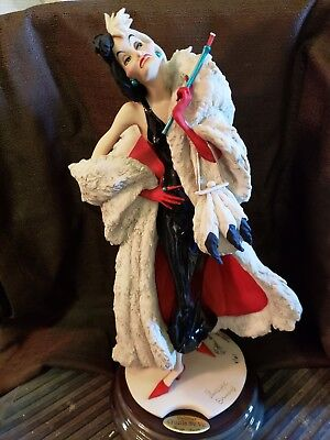 2001 Guiseppe Armani Limited Edition Signed and Numbered CRUELLA DE VIL Figurine