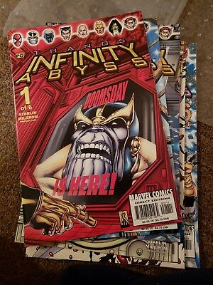 Infinity Abyss (Marvel) Lot - Complete Mini Series Set w/#s 1-6, Thanos