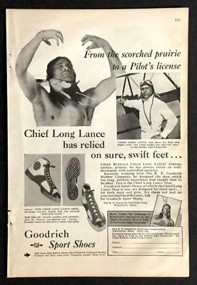 1931 B.F. Goodrich Sport Shoes vintage AD *Chief Long Lance* Sneakers