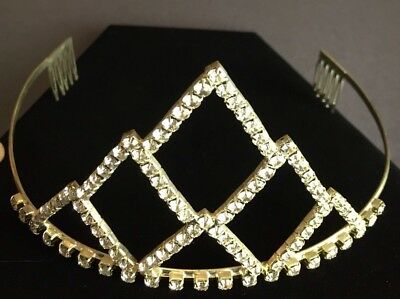 Rhinestone Pageant Tiara Wedding HALLOWEEN Costume Quinceanera Very Nice Crown!