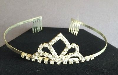 Rhinestone Pageant Tiara Wedding HALLOWEEN Costume Quinceanera Sparkling Crown!