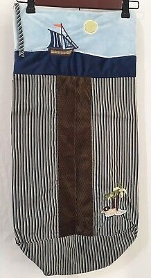 Infant Unisex Nojo Ahoy Mate Diaper Holder Stacker Sailboat Island Brown & Blue