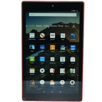 Amazon Fire HD 10 Tablet 10.1 In 32GB (7th Gen) 2017 PUNCH RED | Cracked Screen