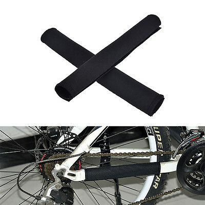 2X Cycling Bicycle Bike Frame Chain stay Protector Guard Nylon Pad Cover Wrap LE