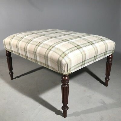 Antique Georgian footstool coffee table