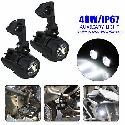 10-30v Auxiliary Lights Fog Spot Lamp For BMW R1200GS F800GS 700 KTM Set Engine