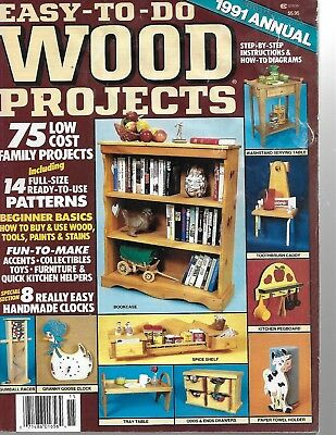 Easy to Do Wood Projects Magazine 40 Projects 1991 Annual   #099