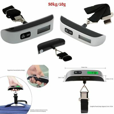 50kg/10g Portable LCD Digital Hanging Luggage Scale Travel Electronic Weights ER