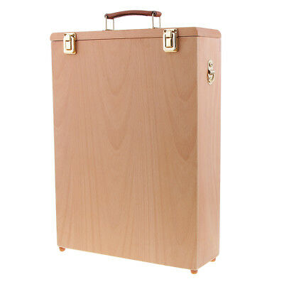 Wooden 40x30cm Wet Canvas Board Carrier Carrying Case Storage Box for Artist