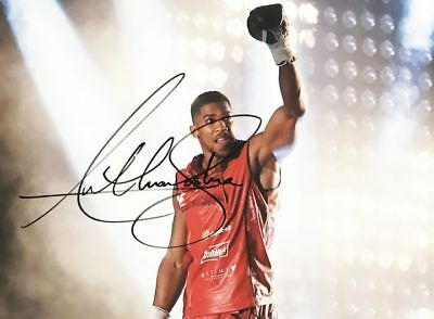 Anthony Joshua Autograph - Signed Boxing World Champion Photo + *certificate*