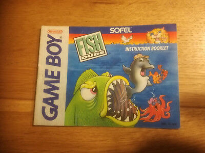 * Fish Dude * DGM-US-USA - GB Game Boy original Anleitung - only Manual