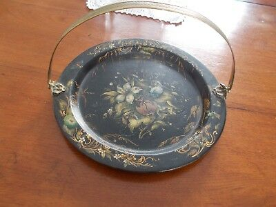 Henry Clay Papier Mache Tray with Handle--c.1800