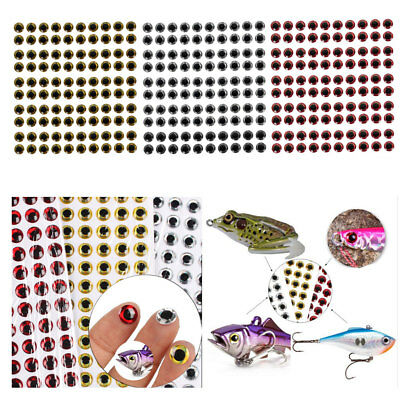 100pcs Fishing Lures Eyes 3D Holographic Eye Fly Tying Jigs Crafts DIY