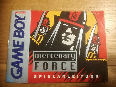 * Mercenary Force * DGM-TK-FRG-1 - GB Game Boy original Anleitung - only Manual