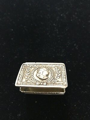 Antique Silver 800 Small Pretty Box