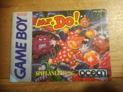 * Mr. Do! * DGM-M4-FRG - GB Game Boy original Anleitung - only Manual