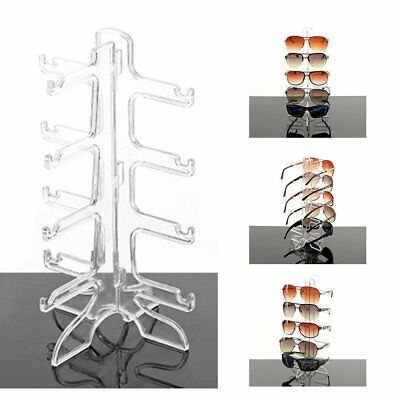 HOT Sunglasses Eye Glasses Display Rack Stand Holder Organizer 4/6 Layers LS