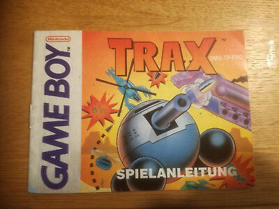 * Trax * DGM-TP-FRG - Game Boy original Anleitung only Manual