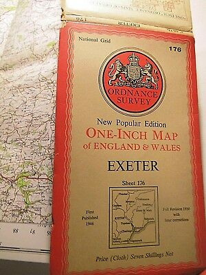 "Exeter Region: Devon 1930-1946 War Period 1"" Ordnance Map: Redacted,old Railways"