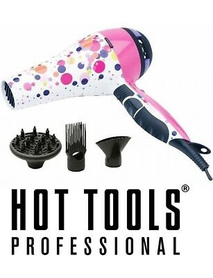 Hot Tools HOT DOT TURBO IONIC Professional SALON HAIR DRYER w/Variable ion Dial