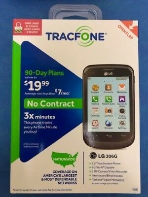 BRAND NEW - TracFone LG 306G No Contract Phone - Black