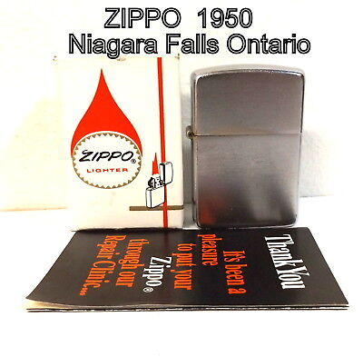 Vintage 1950 Zippo, Niagara Falls Ontario Canada, early production, hard to find