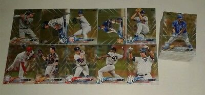 2018 topps baseball GOLD PARALLEL /2018 LOT OF (108) all are different