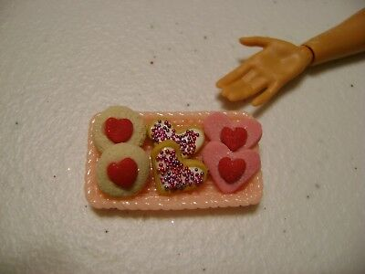 Barbie Dollhouse Food Valentine Assorted Cookies Handcrafted with a tray  NEW