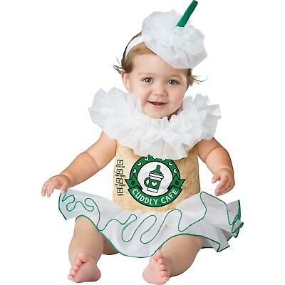 Halloween COFFEE COSTUME CAPPUCCINO CUTIE New Infant Baby 6 12 18 Months