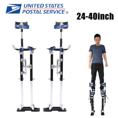 Drywall Stilts Aluminum Tool Stilt 24-40 Inch For Taping Painting Painter Black