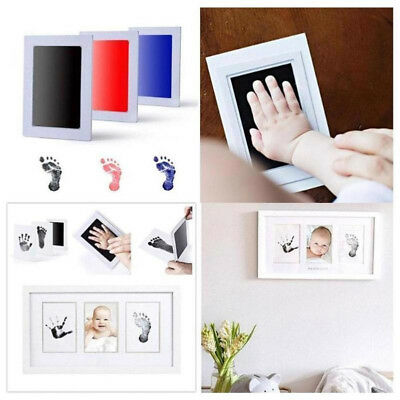 New Baby Paw Print Pad Foot Photo Frame Touch Ink Pad Baby Items Souvenir Gift D